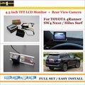 "Para Toyota 4 Runner SW4/Hilux Surf 2002 ~ 2010-Car Inverter Rear Camera + 4.3 ""Monitor LCD TFT = 2 em 1 Sistema De Estacionamento"