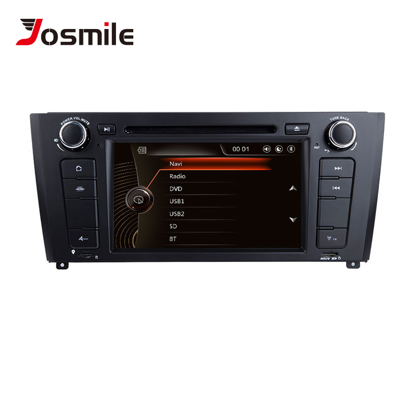 Josmile 2 Din Car DVD Player AutoRadio For BMW E87 1 Series 1 E88 E82 E81 I20 Navigation Multimedia Screen System GPS DAB+CD 3G