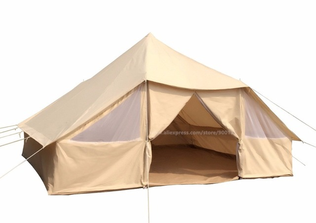 acheter grande spacieuse en plein air tanche grande tente coton toile 4 saison. Black Bedroom Furniture Sets. Home Design Ideas