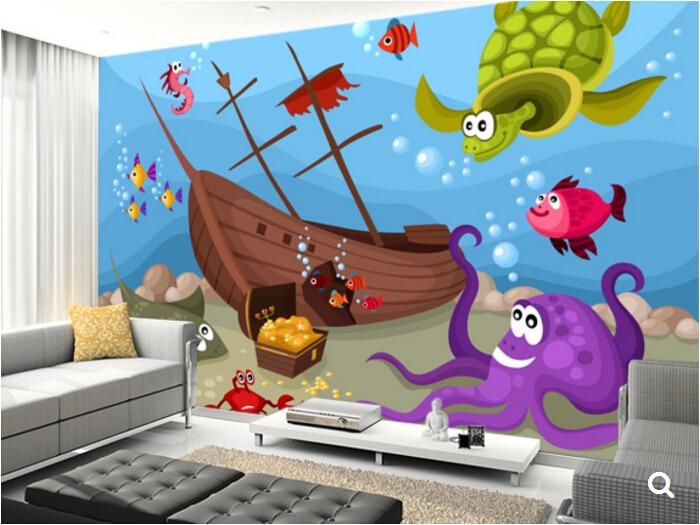 Anak Kustom Wallpaper Kehin Laut Kartun Mural Untuk Ruang Tamu R Latar Belakang Pvc Di Dari Perbaikan Rumah