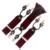 Fita Cor de Vinho Vermelho escuro moda Casual masculino suspensórios clipe ocidental-estilo calças cinta elástica spaghetti cheque clipe 6 fecho