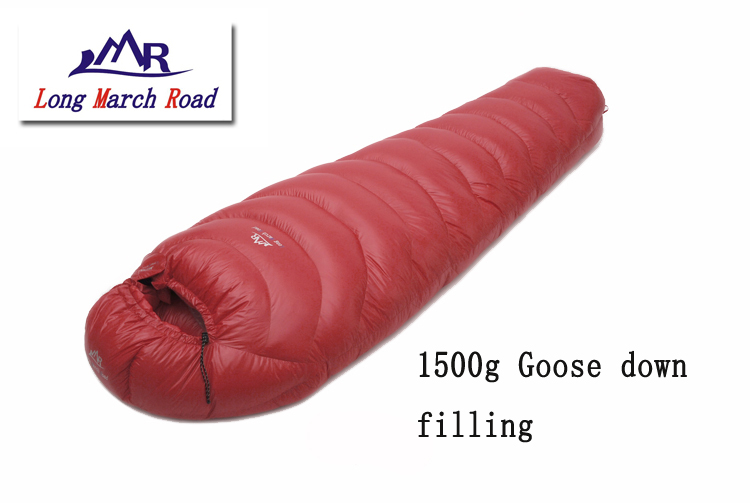 LMR 1500G goose down filling outdoor camping splicing mummy ultra-light sleeping bag filling 3000g outdoor camping winter sleeping bag goose down splicing mummy ultra light goose down sleeping bag