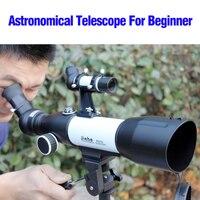 Большой зум Монокуляр CF350 50 мм/60 мм рефрактор Монокуляр космический телескоп астрономический Профессиональный с треногой для детей начинаю