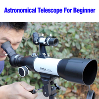 High Zoom Monocular CF350 50mm/60mm Refractor Monocular Space Telescope Astronomic Professional with Tripod for Kids Beginner