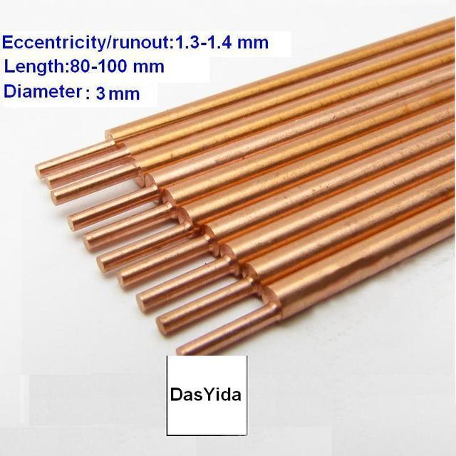 Brass welding rod Electrodes for Spot Welder10 Pieces/lot Spot Welding rods needles