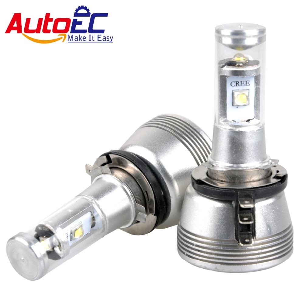 AutoEC 1set  H15  3 LED 30W Headlight Lamp Hi/Lo Beam 5000LM 6000-6500k Pure White Car fog light Bulb for VW Golf 7 Q7 #LN50 tc x upgrade led car headlight bulb kit h7 80w set h4 hi lo head lamp fog light kit h11 hb3 hb4 led auto front bulbs wholesale