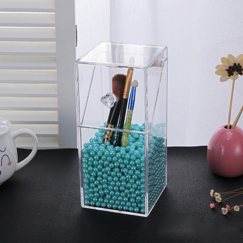 2018 Mordoa High Quality Crystal Plastic Lipsticks Holder Clear Cosmetics Storage Holder Make-up Organizer Display Box Desktop