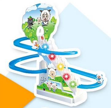 Subir las escaleras para niños juguete del bebé de diapositivas de rotación músi