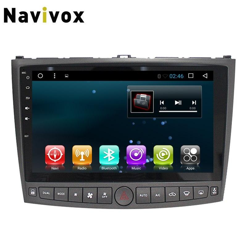 Navivox 10 ''2 din Android 7.1 pour Lexus IS 250 2009-2012 voiture GPS Navigation stéréo lecteur Audio autoradio GPS Navigation