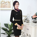 Airline Uniforms OL Package Hip Fashion Long-sleeved Dress Uniforms Overalls Women With S-XXXL Sizes