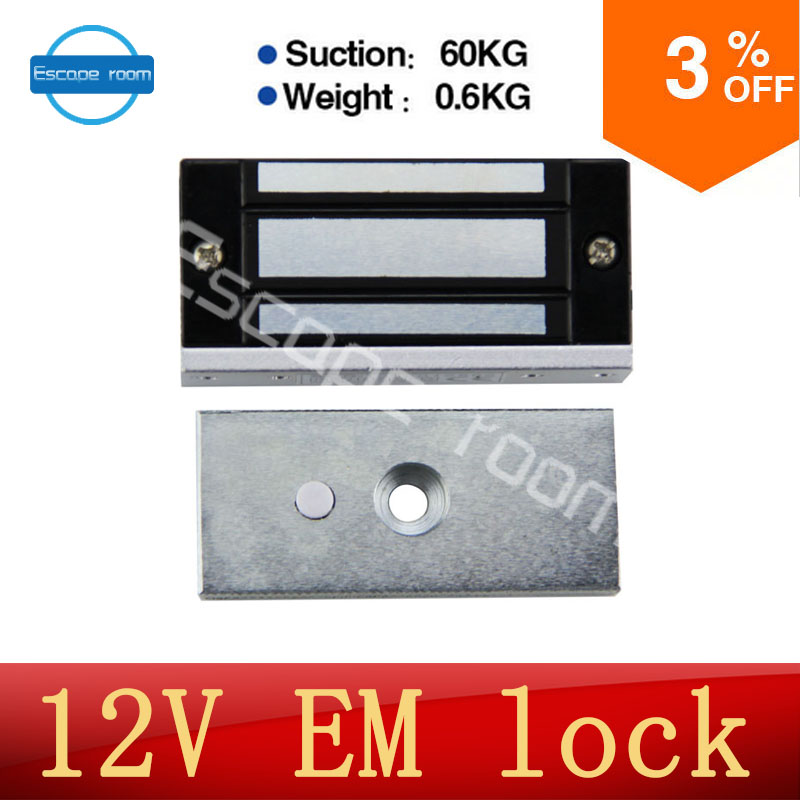 Takagism game prop, Real life room escape props 12v EM lock installed on the door electromagnetic lock