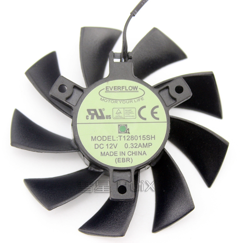 T128015SH DC12V 0.32A for EVGA GTX650 <font><b>GTX650TI</b></font> Graphics Video Card Cooling Fan image