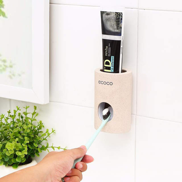 Toothpaste Squeezer Dispenser Automatic Hands Free Wall Mounted Family Bathroom