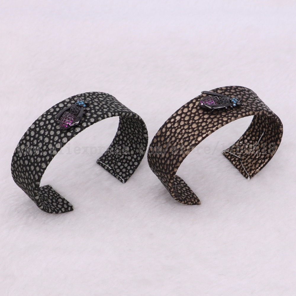 3 pieces bangle cuff bangle bracelet with Cubic Zircon Bees bugs beads mix color beads bangle gems jewelry 2935