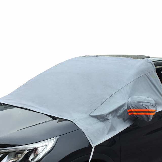 451cb674 Car Truck Windshield Snow Cover Sun Cover Tarp with Mirror Cover Reflective  Stripe Remove Ice Frost in Winter Summer for Car