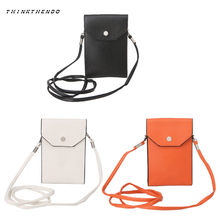 New Fashion Universal Leather Cell Phone Bag Shoulder Pocket Wallet Pouch Case Neck Strap Crossbody Bags Purse(China)