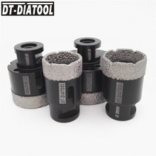 DT-DIATOOL 4pcs Vacuum Brazed Dry Diamond Drill Core Bits Hole Saw M14 thread for Ceramic Tile Drilling Bits Diamond height 15mm diatool diameter 40mm vacuum brazed diamond drilling core bits with 10mm diamond height hole saw granite marble ceramic