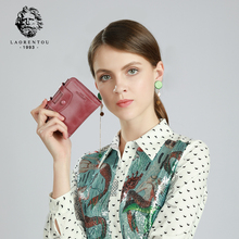 купить LAORENTOU Brand Natural Leather Female Small Money Bag Mini Vintage Wallets Lady Zipper & Hasp Purse Women's Coin Pocket по цене 2155.19 рублей