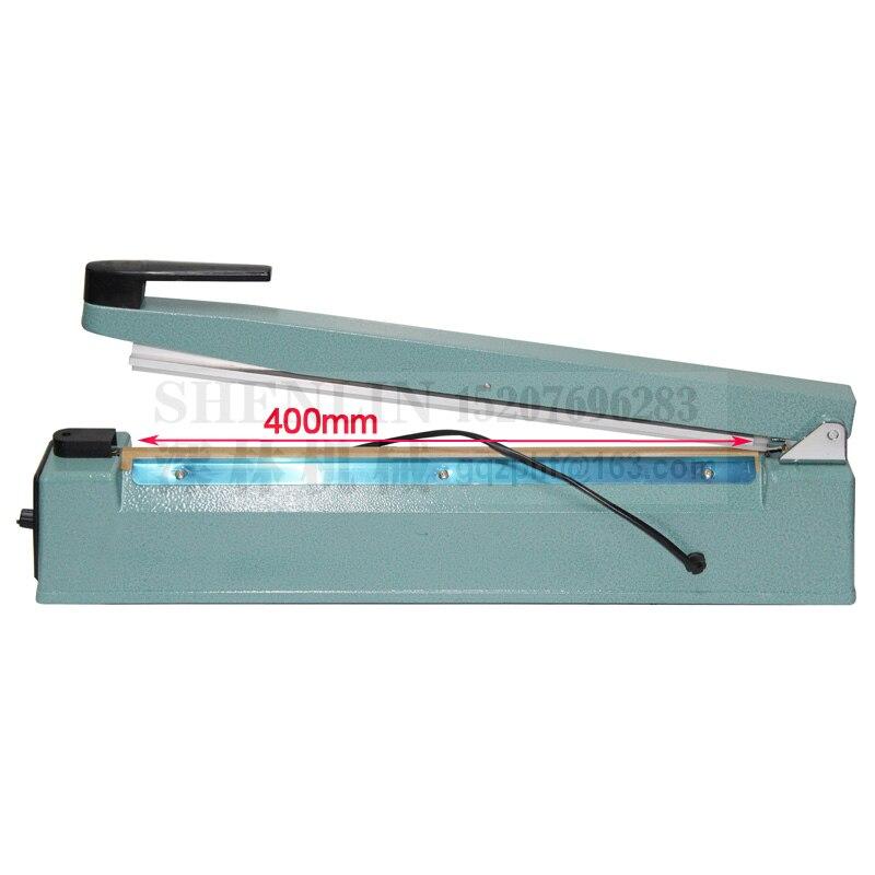 Ручной импульсный упаковщик SHENLIN, машина для запечатывания пластиковых пакетов, ручной упаковщик посылка вой фольги SF400 110 В/220 В 400 мм * 3 мм, металл-5