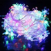 10m LED Crystal Cherry Blossom Rope String Lights Christmas Lights Garland For Garden Fairy Wedding Luminaria