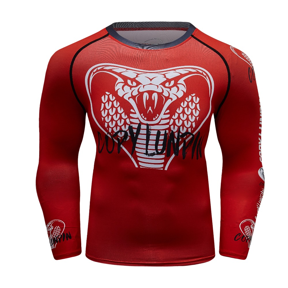 Cobra 3D Printed T shirts Men Long Sleeve Compression Shirts 2018 Summer NEW Crossfit Tops Male Cosplay Fitness camiseta Tees-in T-Shirts from Men's Clothing on AliExpress - 11.11_Double 11_Singles' Day 1
