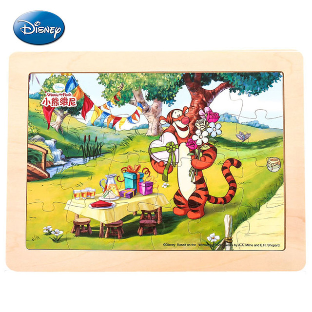 Children Wooden Disney Puzzle Princess Prince Kids Early Educational
