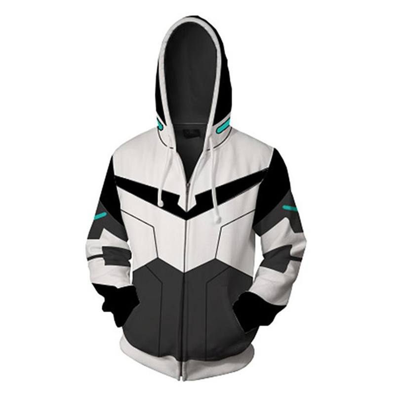 Cosplay Voltron Rance Zipper Hoodie Costumes  Sweatshirts 3D Printing Jackets Unisex Adult Clothing 6 Styles
