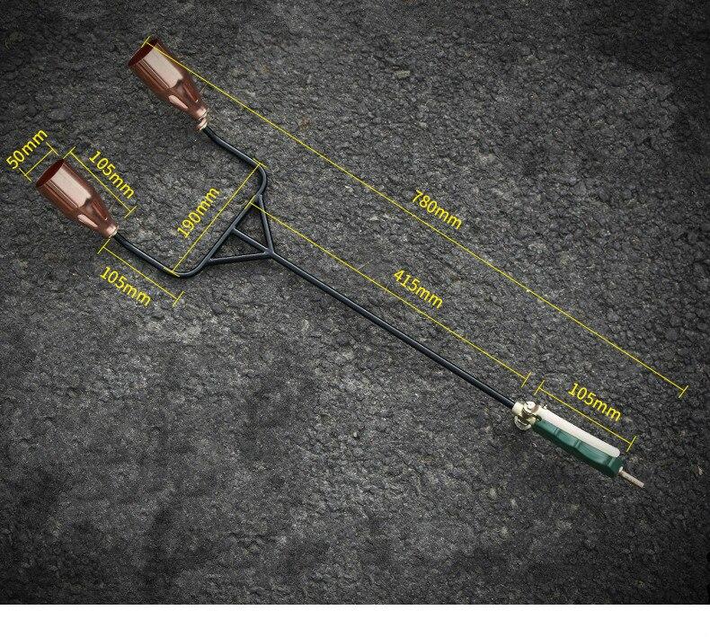50mm Double interrupteur Double tête brûleur à gaz liquéfié pistolet à gaz butane gaz barbecue ménage étanche haute température