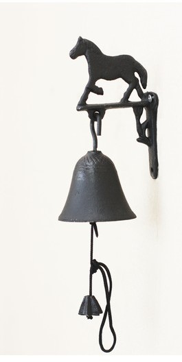 Retro Wrought Iron Decorations Horse Cast Hand Bells Bell Rings Country Style Gardens Wall