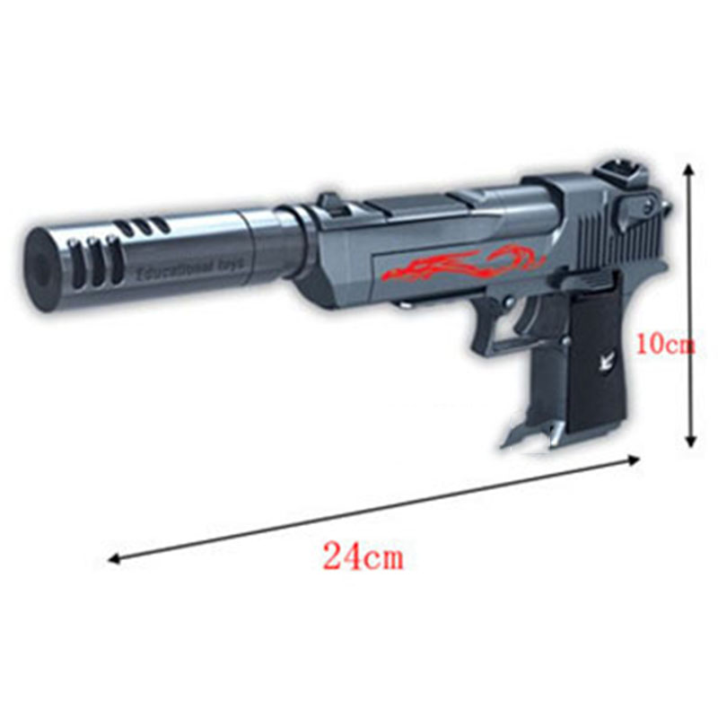 Building Blocks Toy Gun Colt Bolt Desert Eagle Assembly Toy Puzzle Brain Game Model Can Fire Bullets With Instruction Book 6