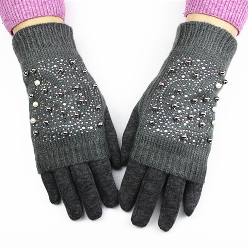 2017 New Women Fashion Gloves Knitted Dos