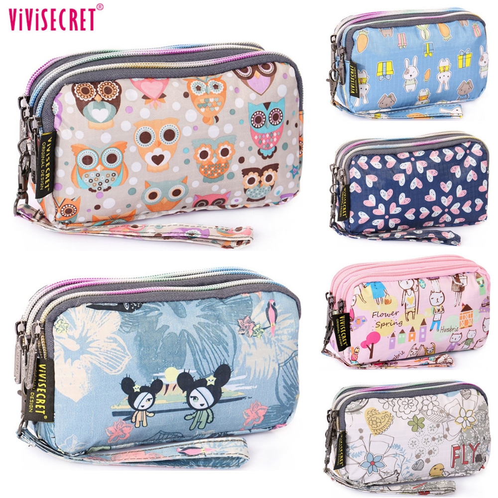 2017 Designer Women Organizer Change Wallet Ladies Handbag Cute Cartoon kawaii Pouch Clutch Phone Coin purse Bag Holder For girl