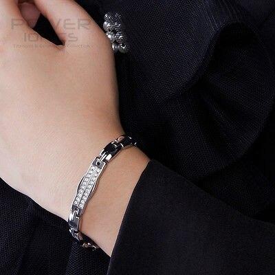 Bracelet en cristal magnétique en titane Germanium avec Ionics de puissance livraison gratuite