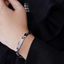 Power Ionics Titanium Germanium Magnetic Crystal Bracelet Balance Band Free Shipping цена