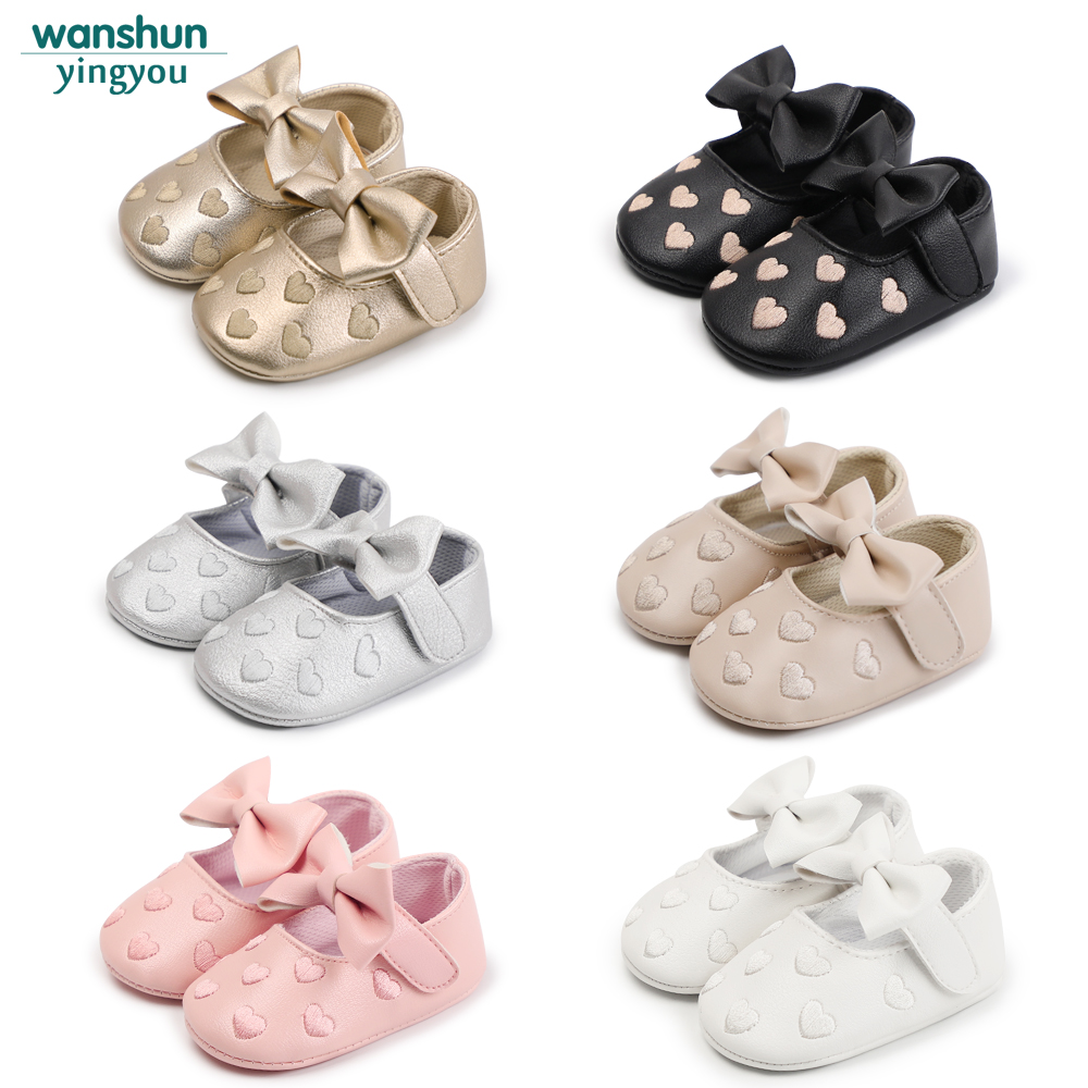 Bebes PU Leather Baby Boy Girl Baby Moccasins Moccs Shoes Bow Fringe Soft Soled Non-slip Footwear Crib Shoes sayoyo brand genuine cow leather baby moccasins snail toddler infant footwear soft soled baby boy shoes pre walker free shipping