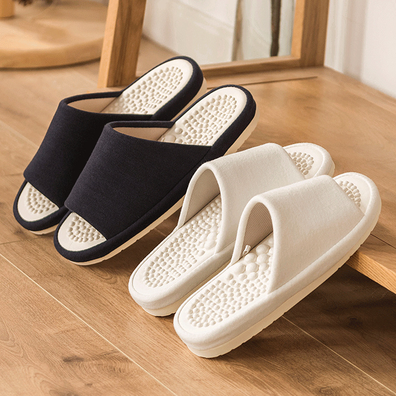 Summer Bedroom Flat Shoes Men Home Massager Slippers Mens Indoor Healthy Slipper Breathable Soft Sole Male Home Slides SH022011M