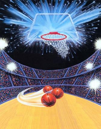 8x12ft photo studio backdrop background customize sports basketball
