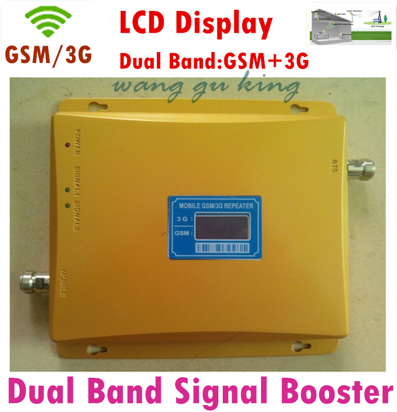 10 Pcs LCD Display Dual Band 65dBi 3G GSM Mobile Phone Signal Repeater GSM 900 Mhz + GSM 2100 Mhz Booster Amplifier Extender
