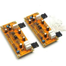 One Pair PASS AM single-end Class A Amplifier Board Pre-amp 10W 8ohms DC 18V-0V-18V gzlozone pnp sanken a1216 jlh1969 single ended class a power amplifier kit 10w 10w