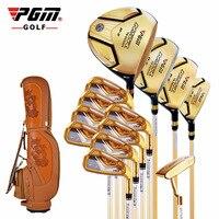 Производители, оптовые гольф-клубы установить подлинные гольф PGM мужские золотые titanium rod set деревянный шар, набор