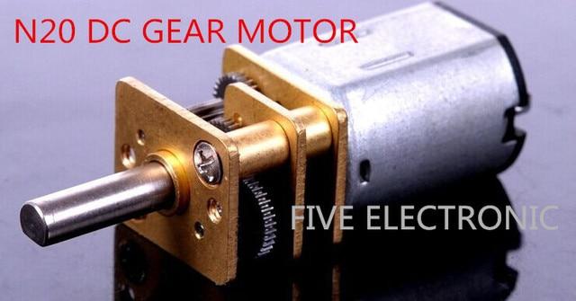 N20 DC-GETRIEBEMOTOR, 6 V, verwenden für spielzeug auto's intelligente roboter's modell flugzeug Minderer Motor mit verschiedenen RPM