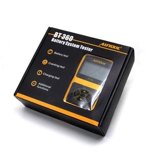 Image 2 - Автомобильный тестер аккумуляторов AUTOOL BT360 12 В, цифровой тестер для затопленного геля, 12 В, анализатор для автомобильных аккумуляторов, многоязычный