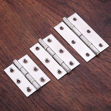2/2.5/3 Inch Brushed Stainless Steel Cabinet Door Hinge Folding Butt Hinges Home Furniture Hardware Window Slient