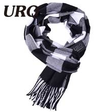 2016 new fashion brand plaid scarf men scarf winter Warm Tartan scarf Foulard balck color W3A17532