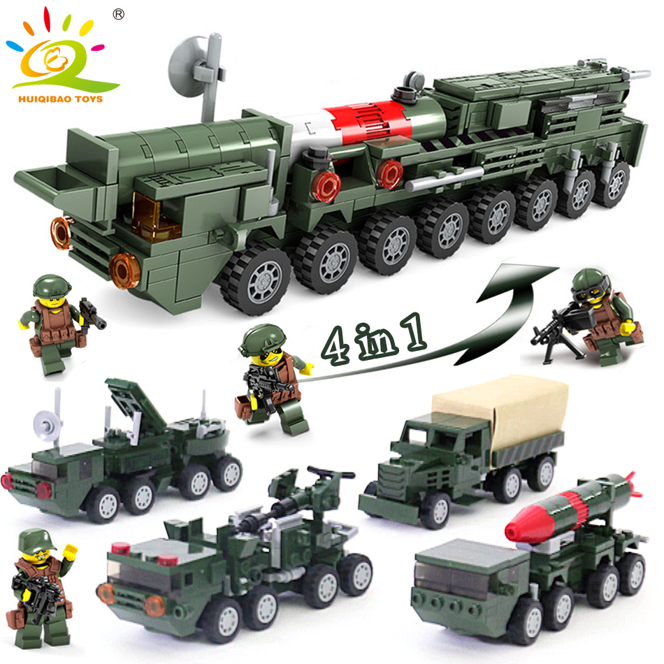 486+pcs Missile launch Truck weapon car Building Blocks Compatible Legoed Military soldier figures bricks toys for children boys military hummer rc tank building blocks remote control toys for boys weapon army rc car kids toy gift bricks compatible lepin