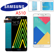 Original 5.2 super amsuper amoled para samsung galaxy a5 2016 a510 a510f a510m a510f lcd screen display toque digitador assembléia