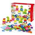 DOLLRYGA piezas de ladrillos grandes DIY bloques de construcción a granel bloques compatibles Duplo expresión pequeño hombre juguetes Regalo de Cumpleaños Color mixto