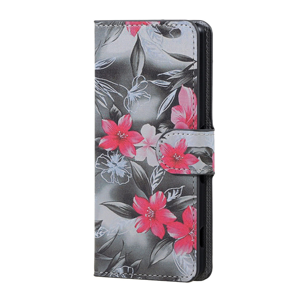 ZTE L5 case red flower  Magnetic Leather Wallet Handbag Book Cover Case For Flip ZTE Blade L5 plus\l5 5.0 incn Phone Cases coque