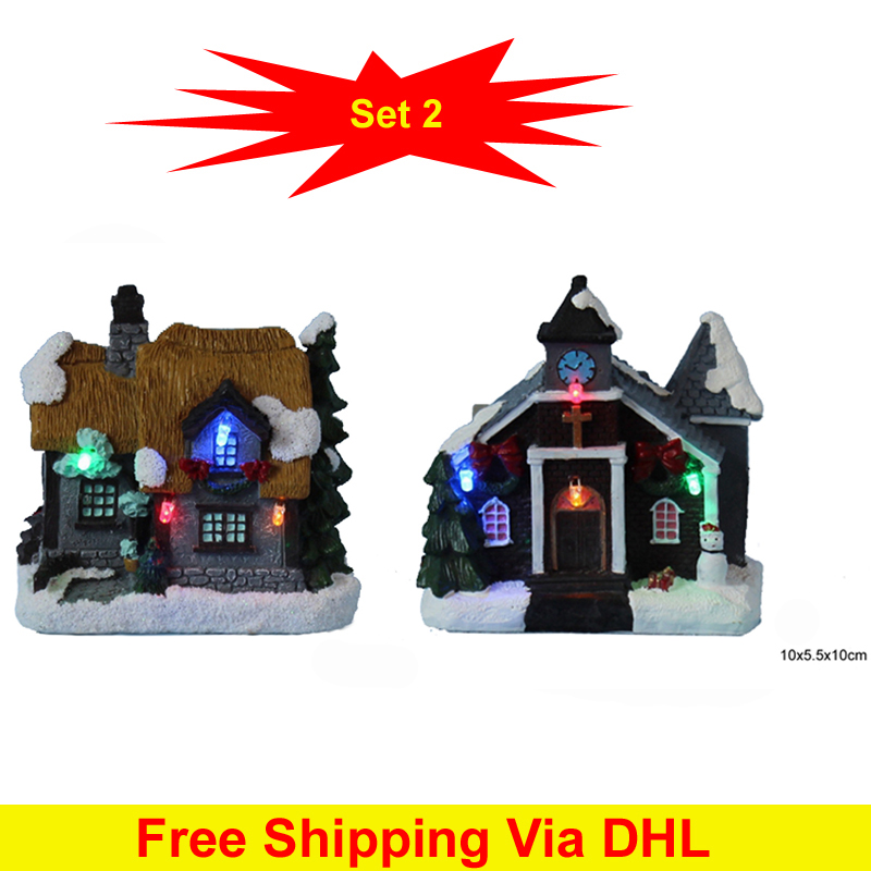 4 flashing led light christmas decoration paper