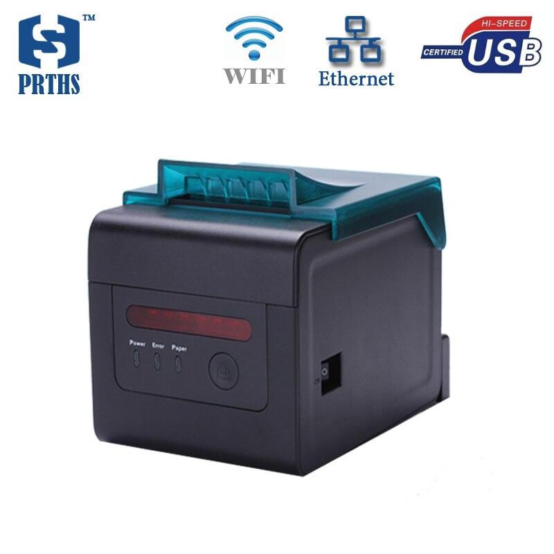 Imprimante thermique multifonction WIFI et Ethernet Impressora 80mm impression de tickets qr code avec alarme, lumières pour HS-H81ULW de cuisine